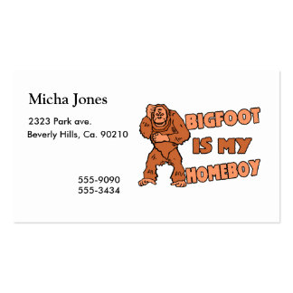 Bigfoot Is My Homeboy Pack Of Standard Business Cards