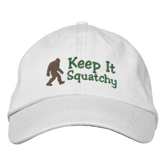 Bigfoot keep it squatchy embroidered baseball caps