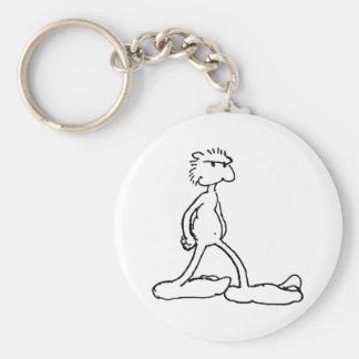 bigfoot basic round button key ring