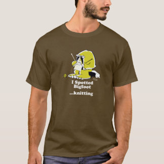 Bigfoot knitting T-Shirt