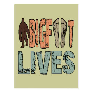 Bigfoot Lives Postcard