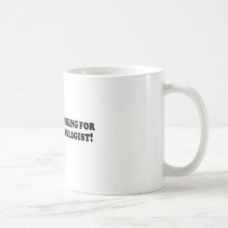 Bigfoot Looking for Good Psychologist - Basic Coffee Mug