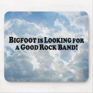 Bigfoot Looking for Good Rock Band - Basic Mouse Pad