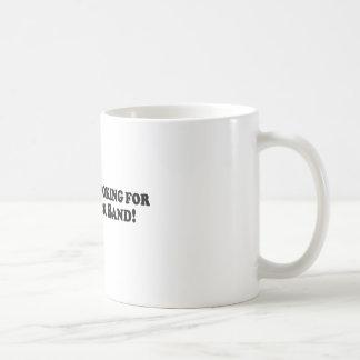 Bigfoot Looking for Good Rock Band - Basic Coffee Mugs