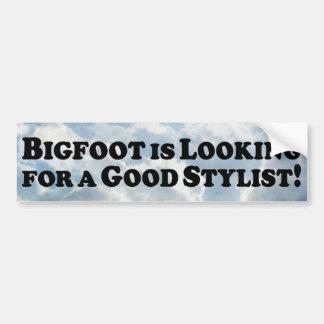 Bigfoot Looking for Good Stylist Bumper Sticker
