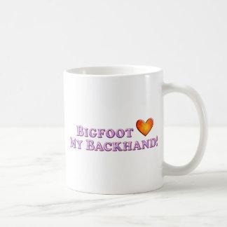 Bigfoot Loves My Backhand - Basic Basic White Mug