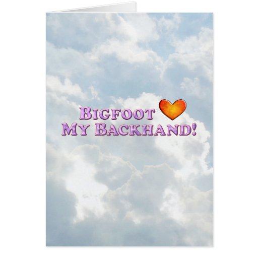Bigfoot Loves My Backhand - Basic Cards