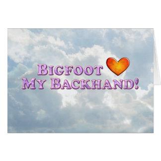 Bigfoot Loves My Backhand - Basic Greeting Card