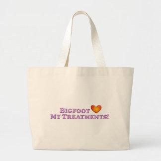 Bigfoot Loves My Treatments - Basic Tote Bag