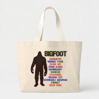Bigfoot Names Large Tote Bag