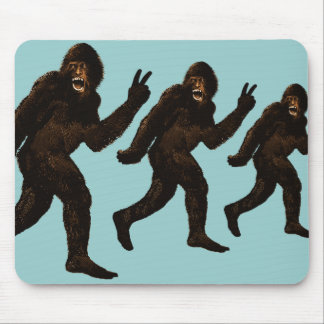 Bigfoot Peace Mouse Mat
