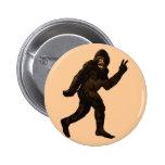 Bigfoot Peace Sign 6 Cm Round Badge