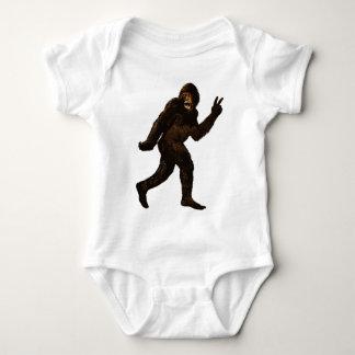 Bigfoot Peace Sign Baby Bodysuit