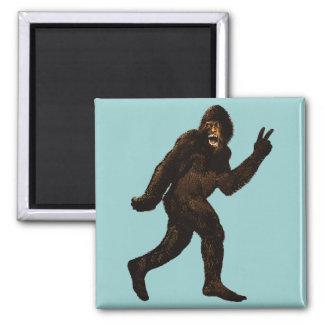 Bigfoot Peace Sign Magnet