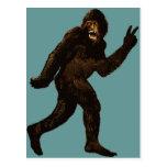 Bigfoot Peace Sign Postcard