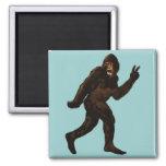 Bigfoot Peace Sign Square Magnet
