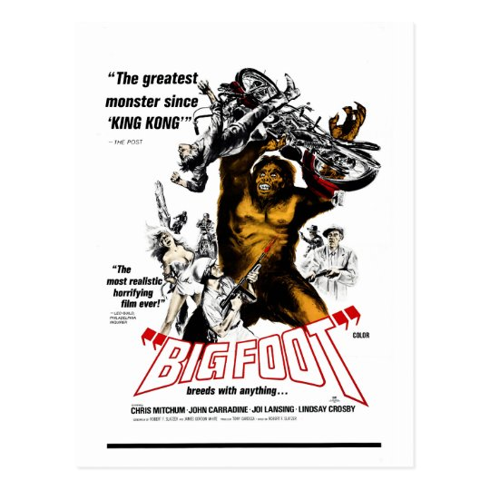 Bigfoot! Postcard