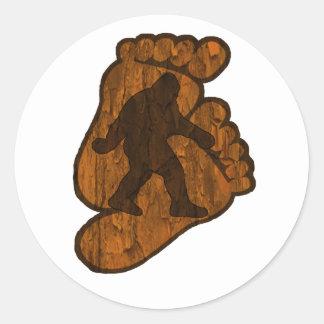 Bigfoot Prints Classic Round Sticker
