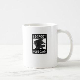 Bigfoot Rated 'E' For Everyone Basic White Mug