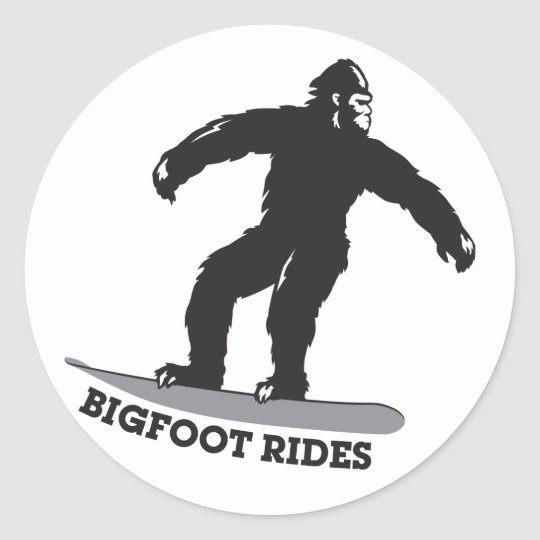 Bigfoot Rides! Classic Round Sticker