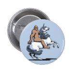 Bigfoot Riding a Unicorn 6 Cm Round Badge