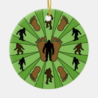 Bigfoot Round Christmas Ornament