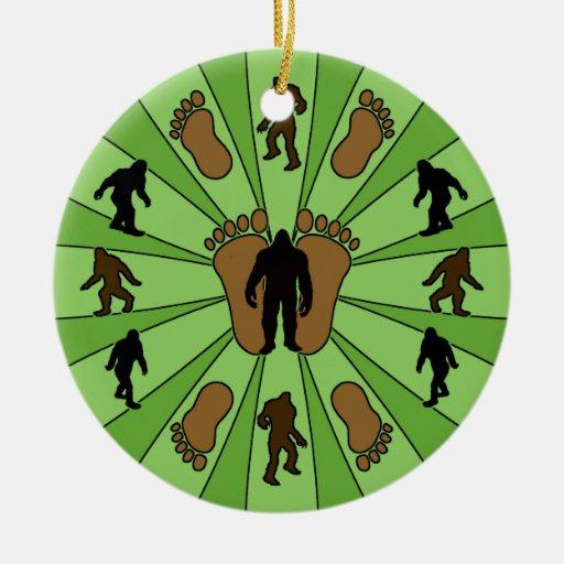 Bigfoot Round Christmas Ornament