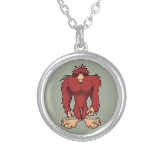 Bigfoot Round Pendant Necklace