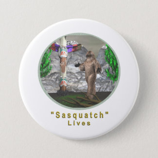 Bigfoot sasquatch 7.5 cm round badge