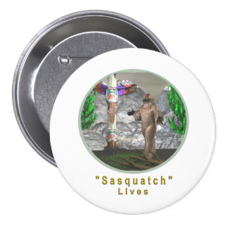 Bigfoot sasquatch button