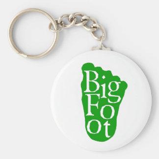 Bigfoot! Sasquatch Big Foot Yeti Basic Round Button Key Ring