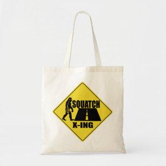 Bigfoot / Sasquatch Crossing Sign Bag