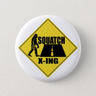 Bigfoot / Sasquatch Crossing Sign Button