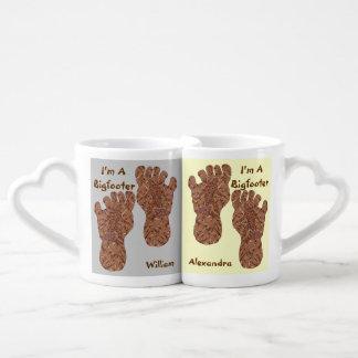 Bigfoot Sasquatch Personalized I'm A Bigfooter Set Couples Mug