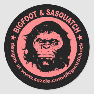 BIGFOOT & SASQUATCH www.Zazzle.com/LifeguardShack Classic Round Sticker