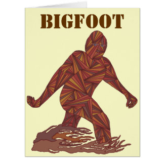 Bigfoot Sasquatch Yeti Cryptid Creature Fun Cards