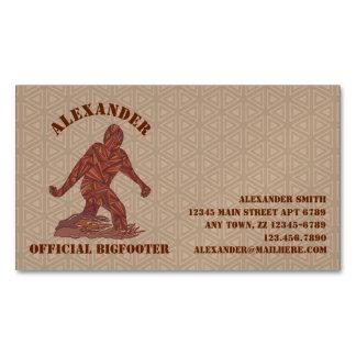 Bigfoot Sasquatch Yeti Cryptid Creature Fun Magnetic Business Cards