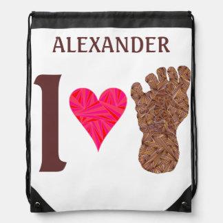 Bigfoot Sasquatch Yeti Cryptid I Heart Bigfoot Backpack