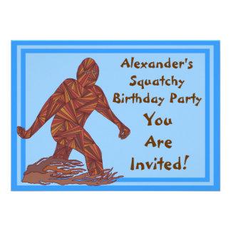 Bigfoot Sasquatch Yeti Cryptid Squatchy Birthday Invite
