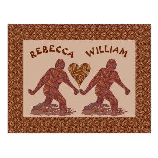 Bigfoot Sasquatch Yeti Cryptid Valentine Fun Postcard