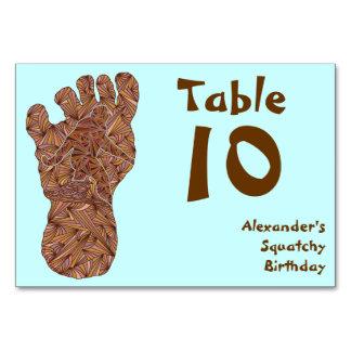 "Bigfoot Sasquatch Yeti Table 10 Card 3.5"" x 5"" Table Cards"