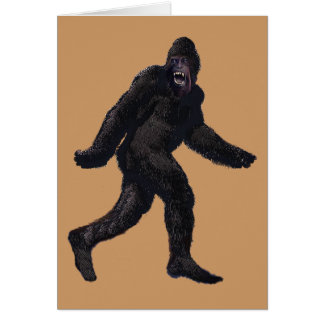 Bigfoot Sasquatch Yetti Greeting Card