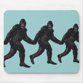 Bigfoot Sasquatch Yetti Mouse Pad