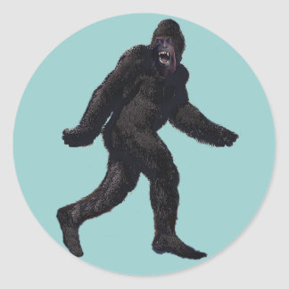 Bigfoot Sasquatch Yetti Round Sticker