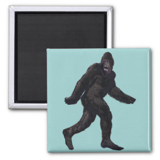 Bigfoot Sasquatch Yetti Square Magnet