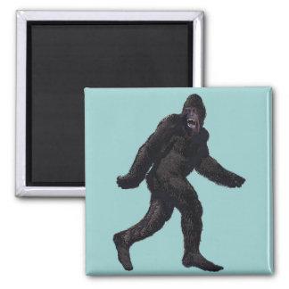 Bigfoot Sasquatch Yetti Square Magnet