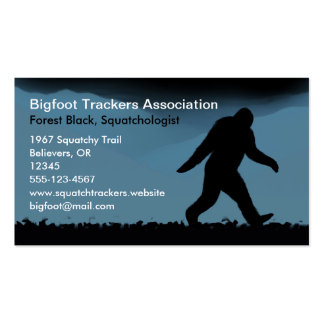 Bigfoot Silhouette at Night Business Cards