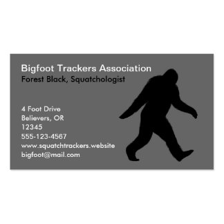Bigfoot Silhouette Business Cards