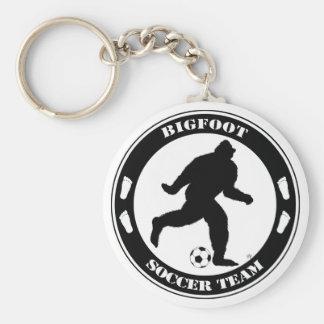 Bigfoot Soccer Team Basic Round Button Key Ring