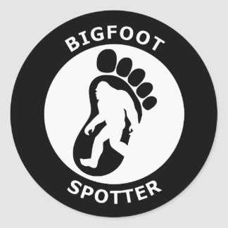 Bigfoot Spotter Classic Round Sticker